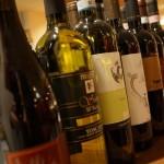 試飲するワイン、資料の番号順に並んでいるところ。