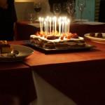 間もなく誕生日の方がいらっしゃったので、シェフからバースデーケーキのプレゼント。